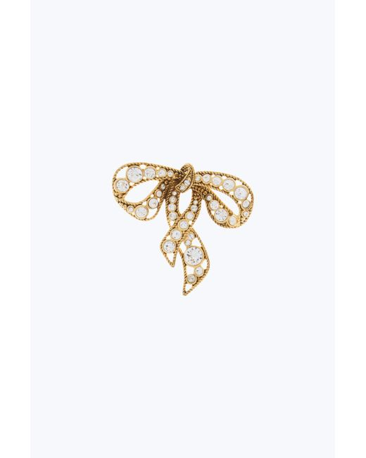 Marc Jacobs | Metallic Bow Brooch | Lyst