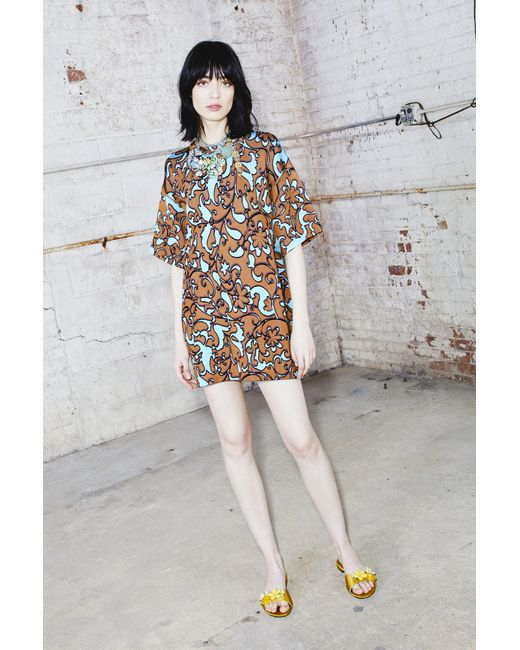Marc Jacobs - Multicolor Knitted Short Sleeve Dress - Lyst