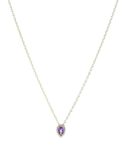Alison Lou | Metallic Amethyst Pendant Necklace | Lyst