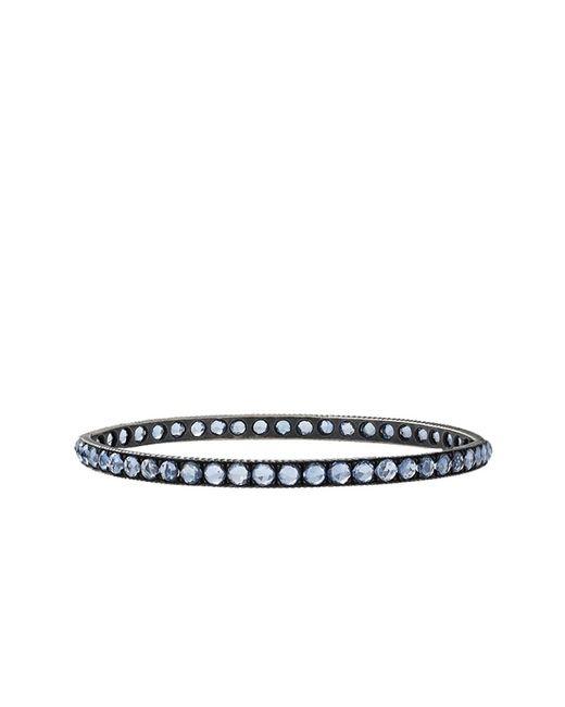 Yossi Harari - Lilah Pave Blue Sapphire Medium Bangle - Lyst