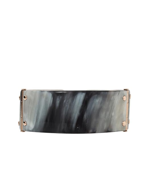 Federica Rettore | Metallic Melange Black Zebu Horn Cuff | Lyst