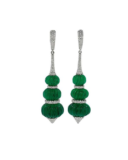 Inbar | Green Carved Fluorite Earrings | Lyst