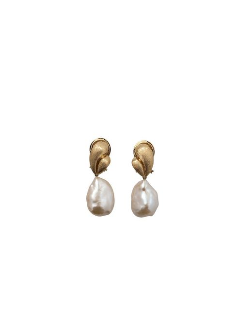Yvel | Multicolor White Baroque Freshwater Pearl Drop Earrings | Lyst