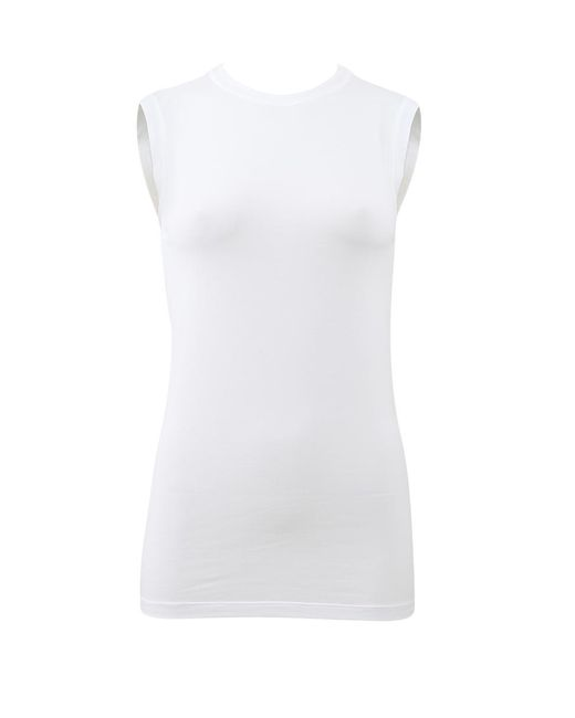 Brunello Cucinelli | White Sleeveless Top | Lyst