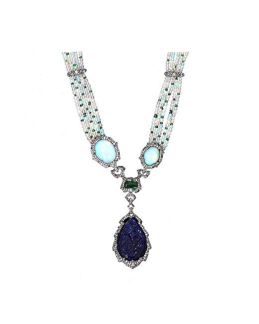 Arunashi   Blue Carved Tanzanite Necklace   Lyst