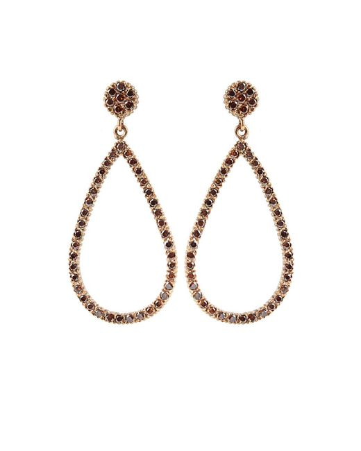 Yossi Harari | Lilah Brown-diamond Drop Earrings | Lyst