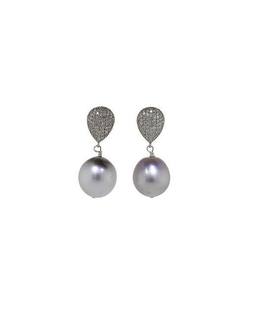 Jordan Alexander | Metallic Tahitian Pearl Drop Earrings | Lyst