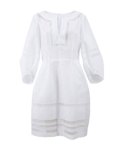 Oscar de la Renta | White Full Bottom Dress | Lyst