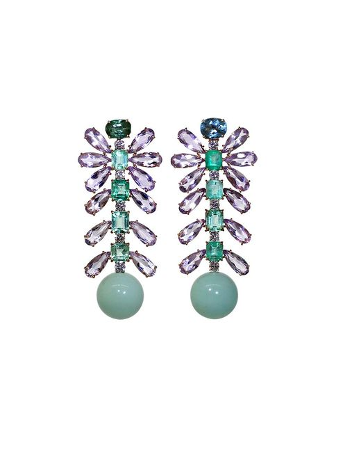 Irene Neuwirth | Green Tourmaline And Emerald Earrings | Lyst