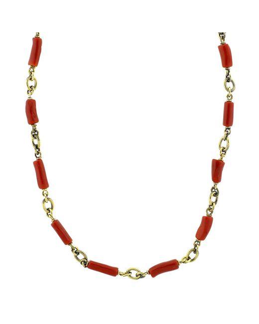 Sylva & Cie | Multicolor Coral Bead Necklace | Lyst