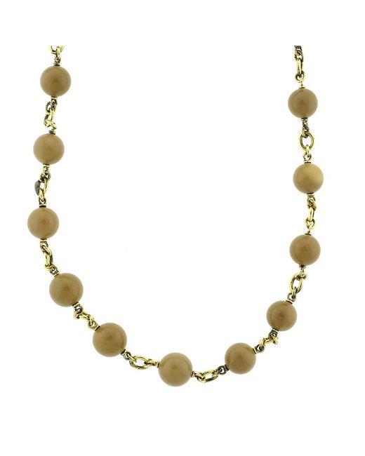 Sylva & Cie | Metallic Sea Bamboo Bead Necklace | Lyst