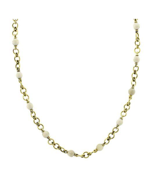 Sylva & Cie | Metallic Baby Mammoth Bead Necklace | Lyst