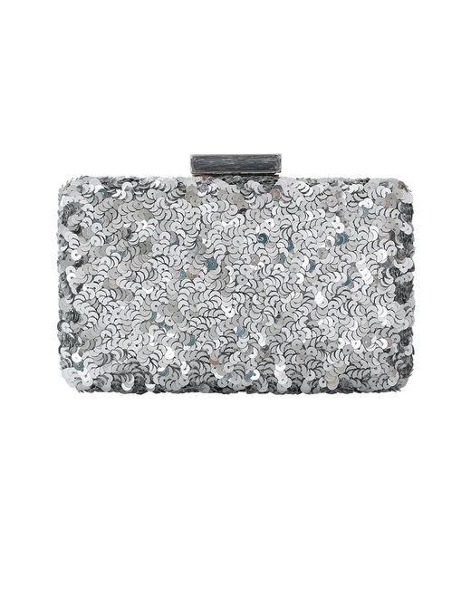 Oscar de la Renta | Metallic Rogan Sequin Box Clutch | Lyst