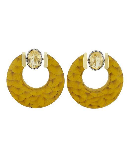 Silvia Furmanovich | Metallic Marquetry Hoop Earrings | Lyst