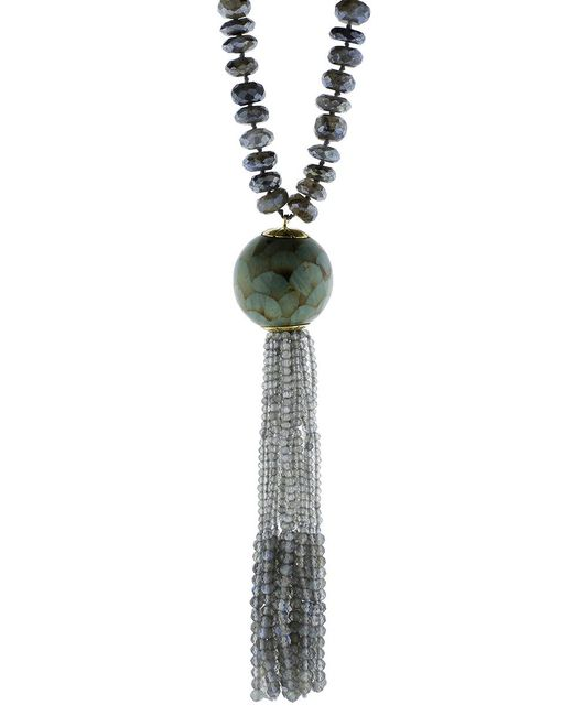 Silvia Furmanovich | Marquetry Light Blue Tassel Necklace | Lyst