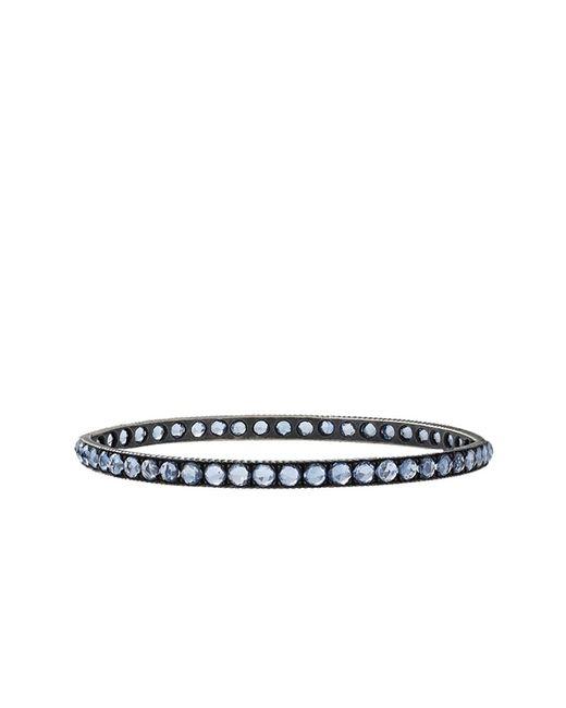 Yossi Harari | Lilah Pave Blue Sapphire Medium Bangle | Lyst