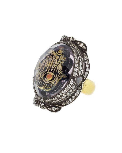 Sevan Biçakci - Metallic Carved Hamsa Ring In Amethyst - Lyst