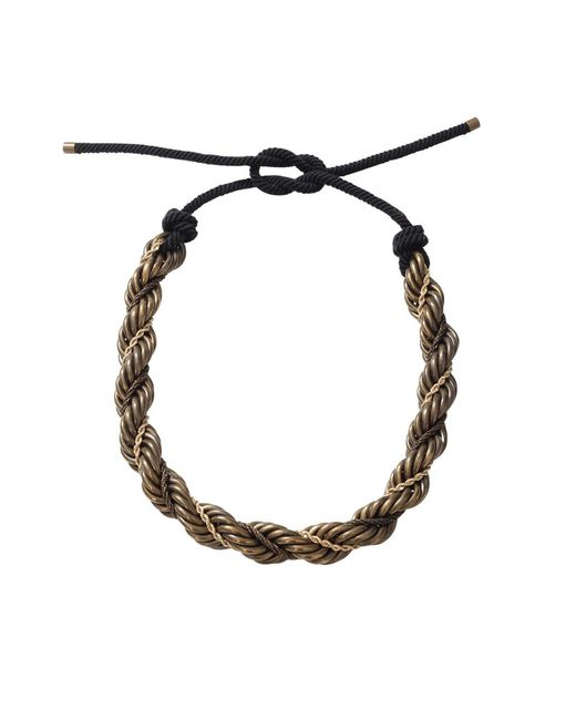 Lanvin - Metallic Katoucha Multi Chain Necklace - Lyst