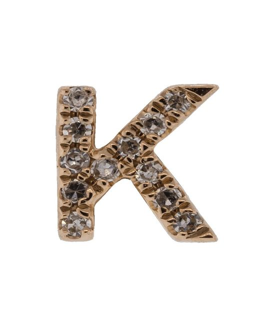 EF Collection - Multicolor Diamond Initial K Stud Earring - Lyst