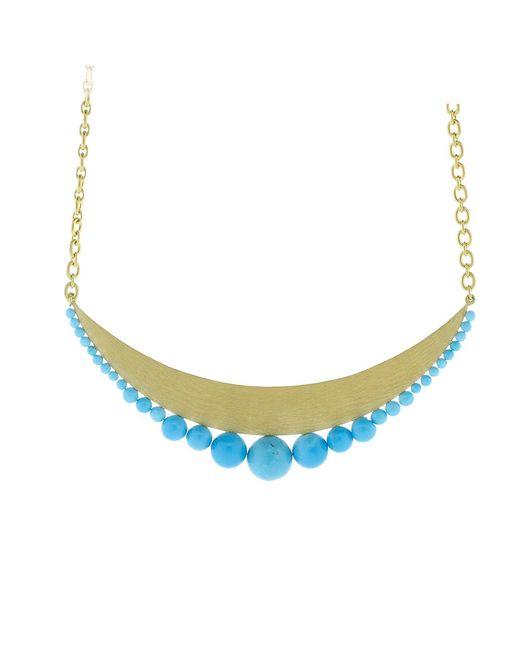Irene Neuwirth - Blue Kingman Turquoise Gold Pendant Necklace - Lyst