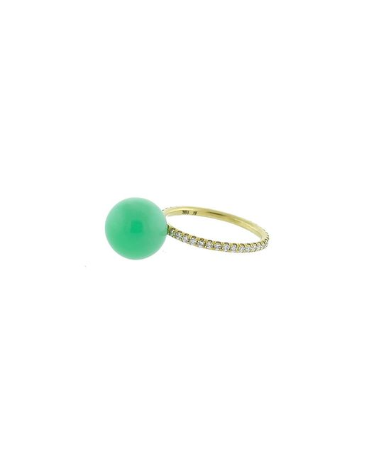 Irene Neuwirth | Green Chrysoprase Diamond Pave Ring | Lyst