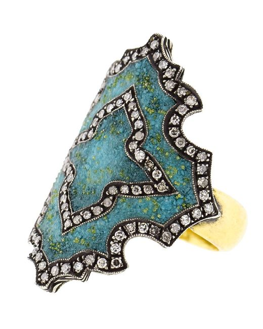 Sevan Biçakci - Multicolor Turquoise Mosaic Shield Ring - Lyst