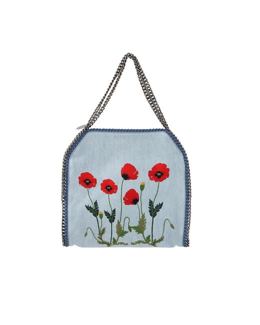 Stella McCartney - Blue Falabella Embroidered Tote - Lyst