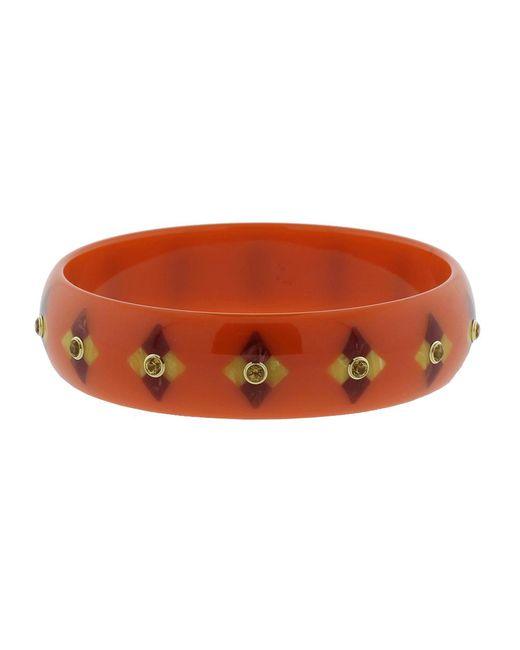 Mark Davis - Multicolor Orange Brown And Red Bakelite Bangle - Lyst
