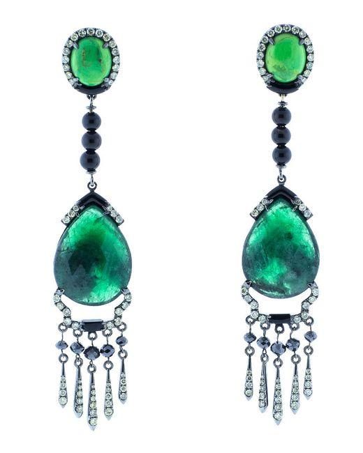 Wendy Yue | Green Emerald Drop Earrings | Lyst