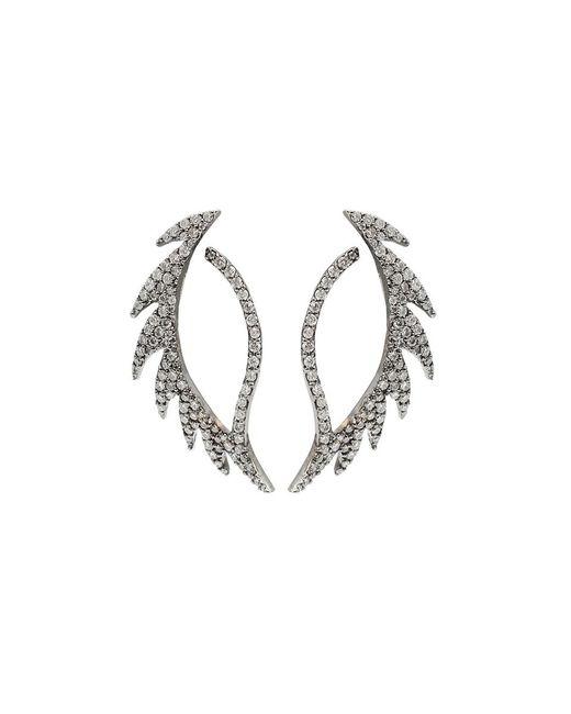 Colette - White Diamond Pattern Earrings - Lyst