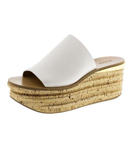 Chloé | White Camille Platform Sandal | Lyst