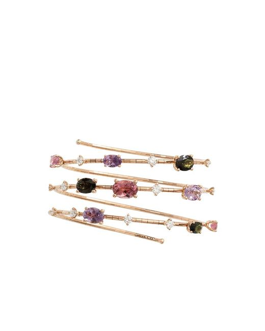 Mattia Cielo - Pink Rugiada Three-circle Wrap Bracelet - Lyst