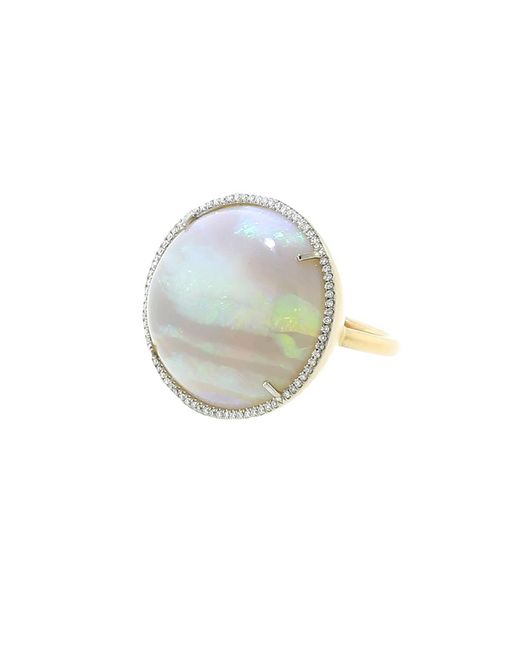 Irene Neuwirth | Multicolor Opal And Diamond Pave Ring | Lyst