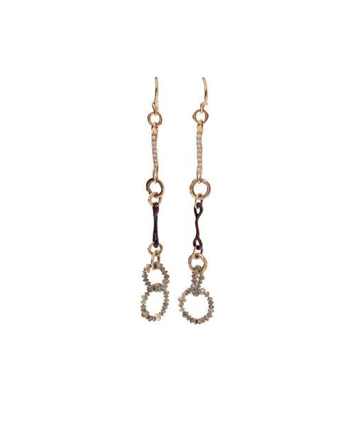 Federica Rettore - Metallic Nodi D'amore Earrings - Lyst