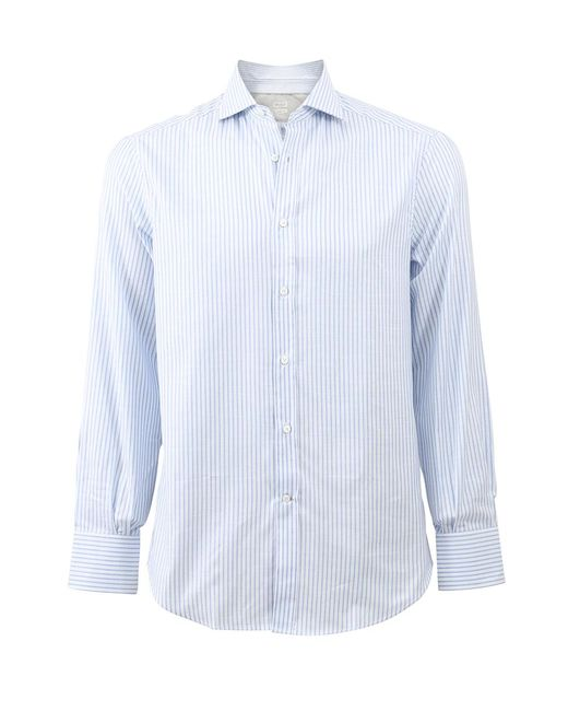 Brunello Cucinelli - White Stripe Shirt for Men - Lyst