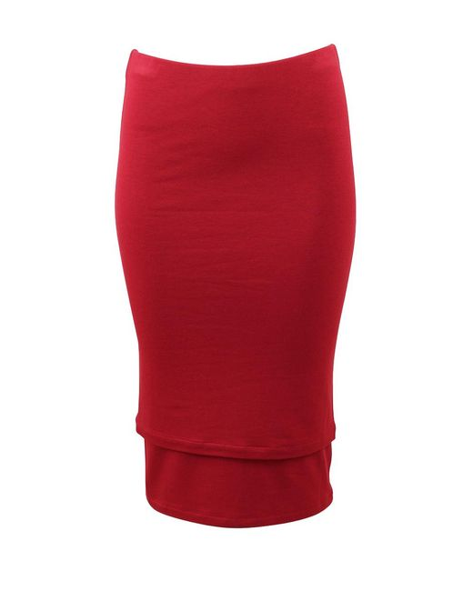 Donna Karan | Red Double Layer Tube Skirt | Lyst