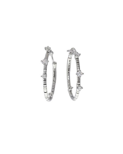Mattia Cielo | Metallic Rugiada Diamond Hoop Earrings | Lyst