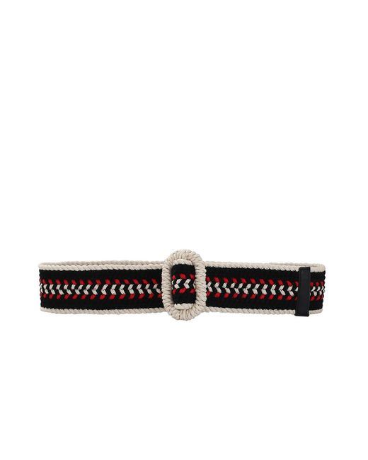 Oscar de la Renta - Black Multi Color Woven Belt - Lyst