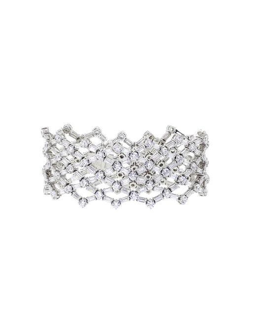 Fantasia Jewelry - Metallic Rounds And Bag Cubic Zirconia Flex Bracelet - Lyst