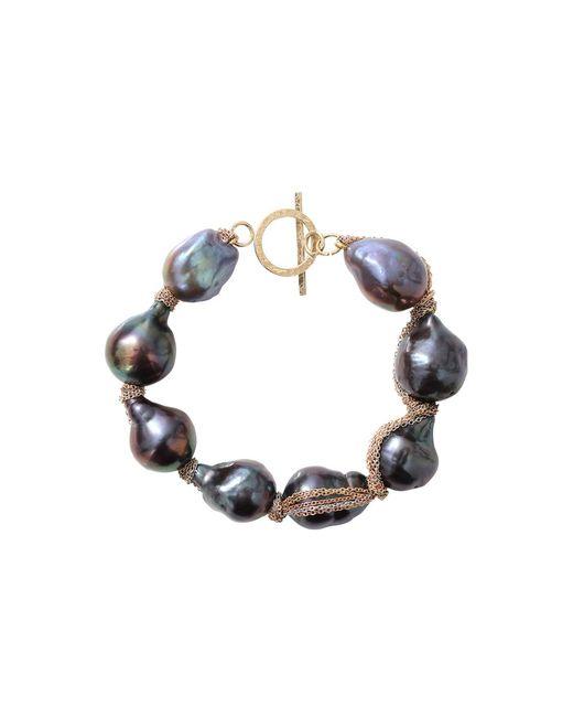 Jordan Alexander   Blue Navy Baroque Pearl Bracelet   Lyst