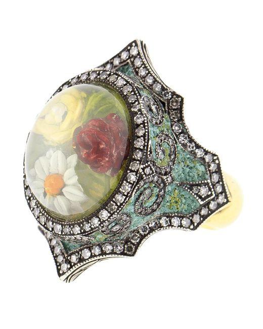 Sevan Biçakci - Metallic Moonstone Flower Garden Ring - Lyst