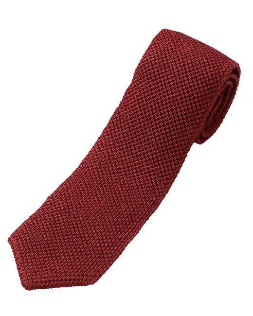 Brunello Cucinelli - Red Knit Tie for Men - Lyst