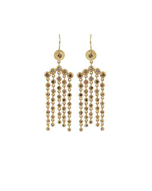 Annie Fensterstock   Metallic Cascade Natural Fancy Color Diamond Earrings   Lyst