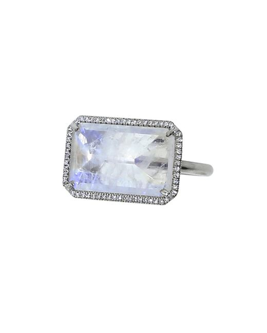 Irene Neuwirth   Blue Rainbow Moonstone Ring   Lyst