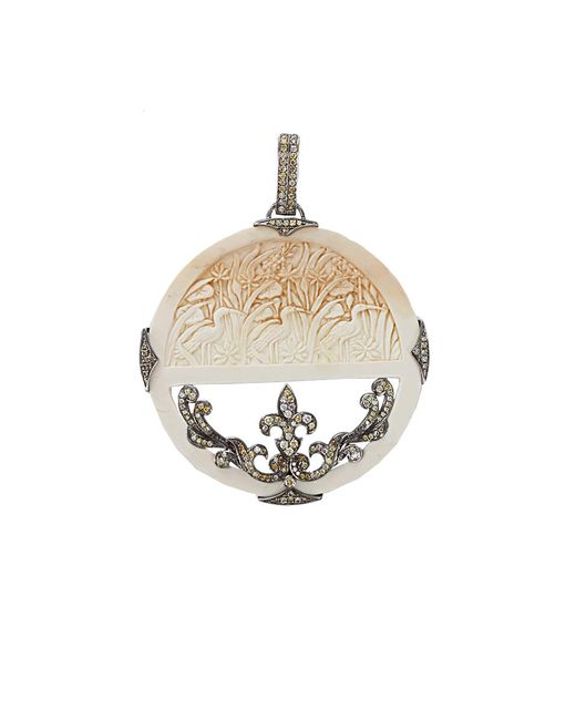 Bochic | White Carved Mammoth And Diamond Pendant | Lyst