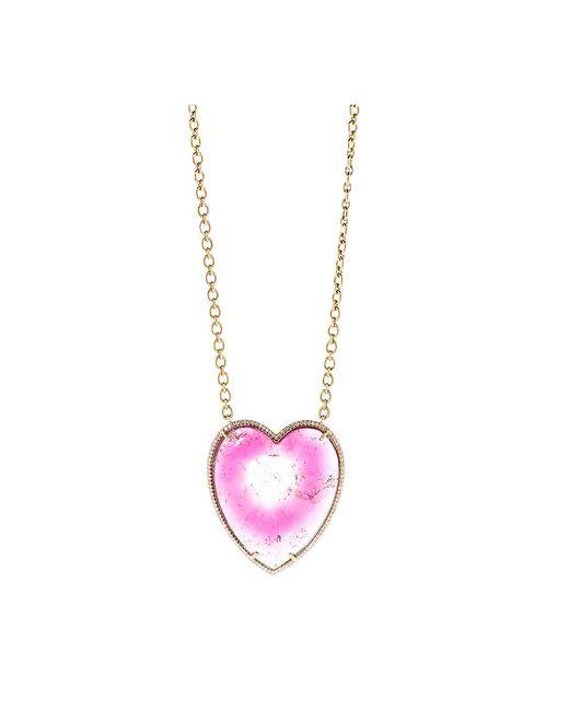 Irene Neuwirth | Pink Bi-color Tourmaline Heart Necklace | Lyst