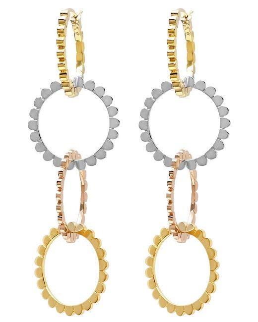 Nancy Newberg - Metallic Four Linked Tri Gold Hoop Earrings - Lyst