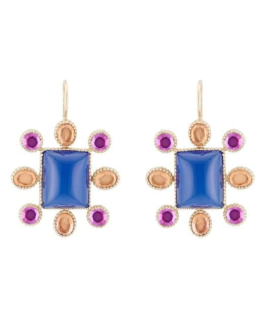 Larkspur & Hawk - Blue Cora Cushion Earrings - Lyst