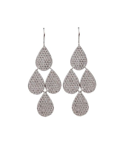 Irene Neuwirth | White Pave Four-drop Chandelier Earrings | Lyst