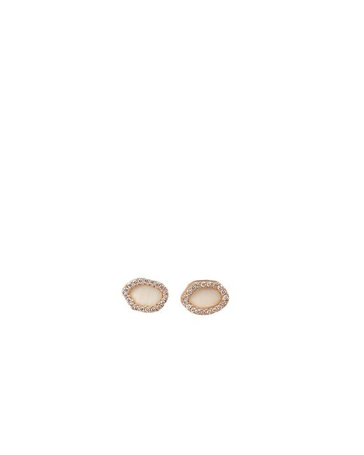 Monique Péan | Natural Woolly Mammoth Diamond Stud Earrings | Lyst